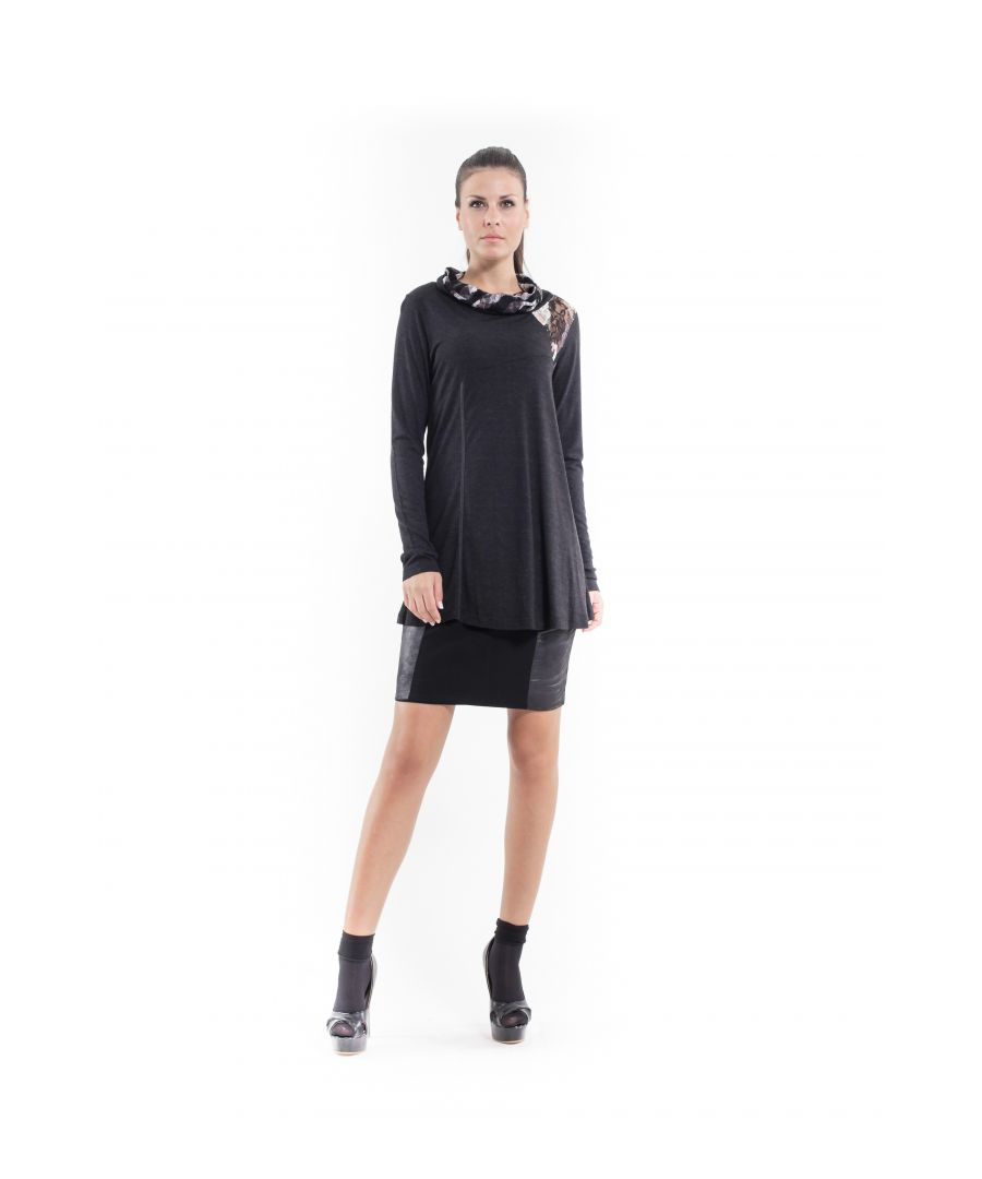 Image for Lace Detail Long Sleeve Top