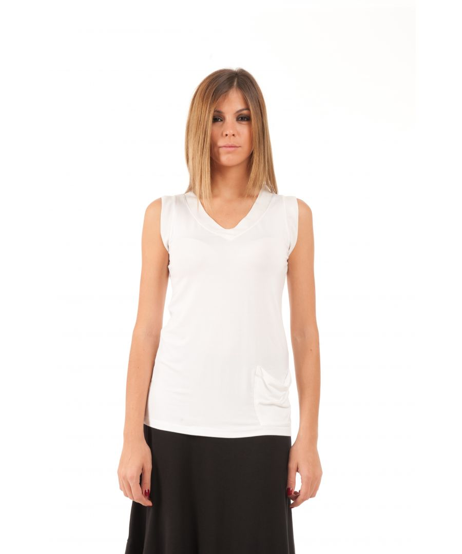 Image for V-Neck Pocket Detail Top