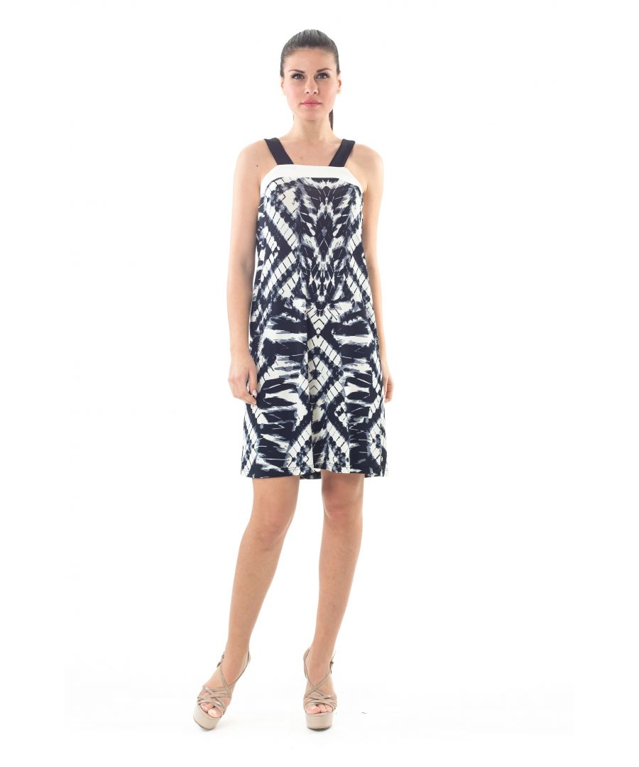 Image for Strap Detail Print Dress