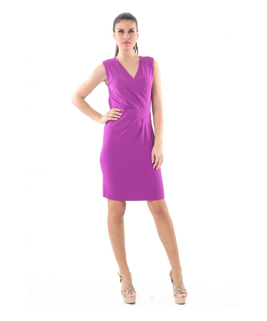 Image for Sleeveless Faux Wrap Dress