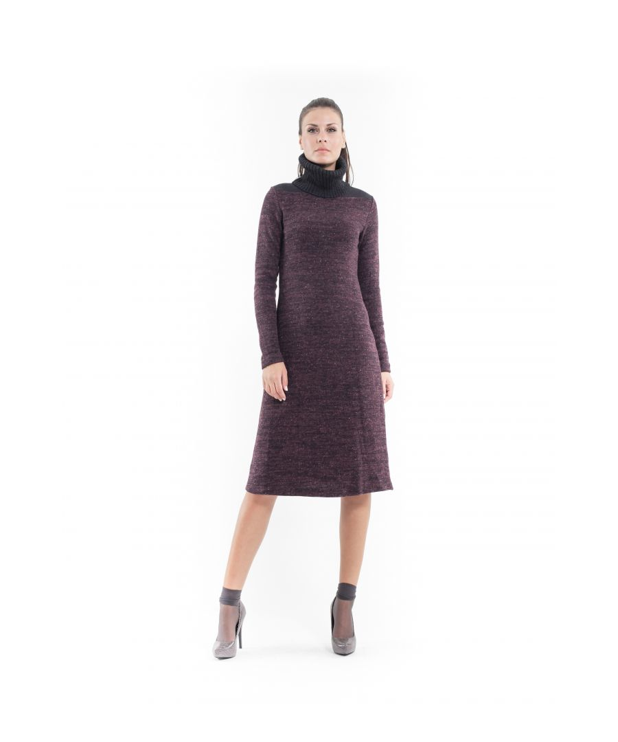 Image for Wool Blend Polo Neck Dress