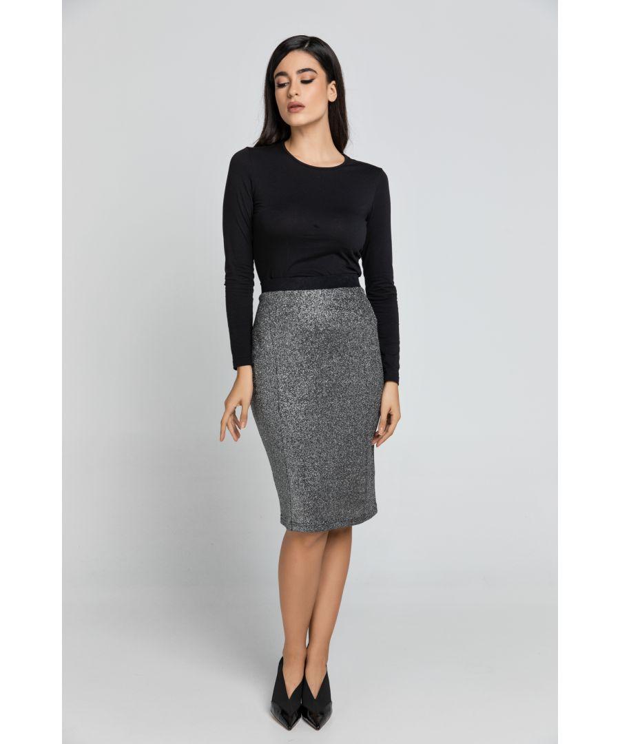 Image for Black Lurex Pencil skirt Conquista