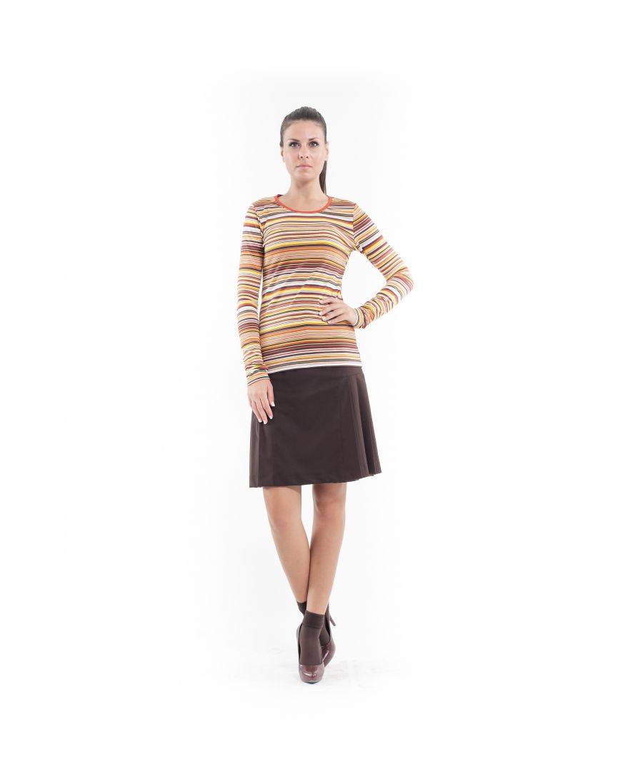 Image for Stretch Long Sleeve Stripe Top