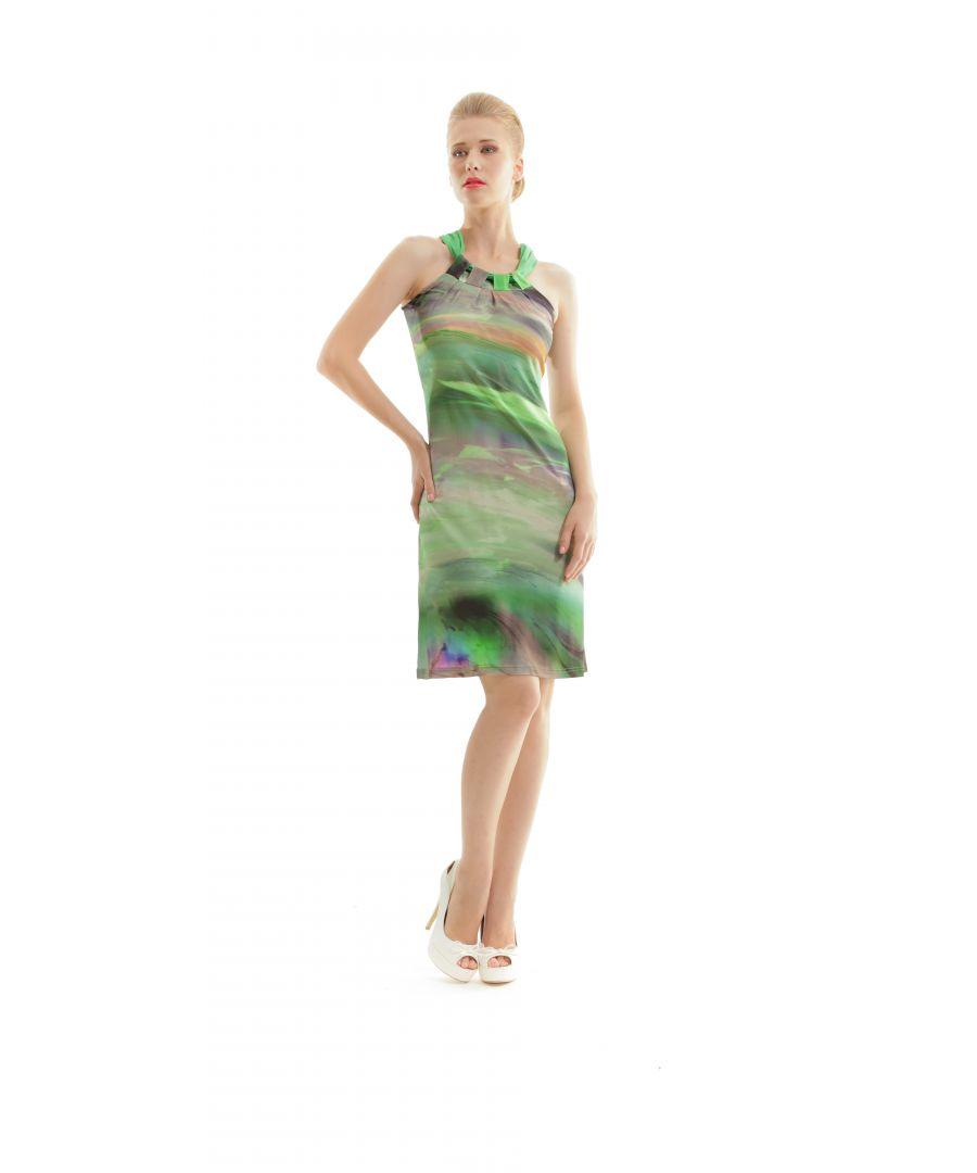 Image for A Line Halter Neck Print Dress