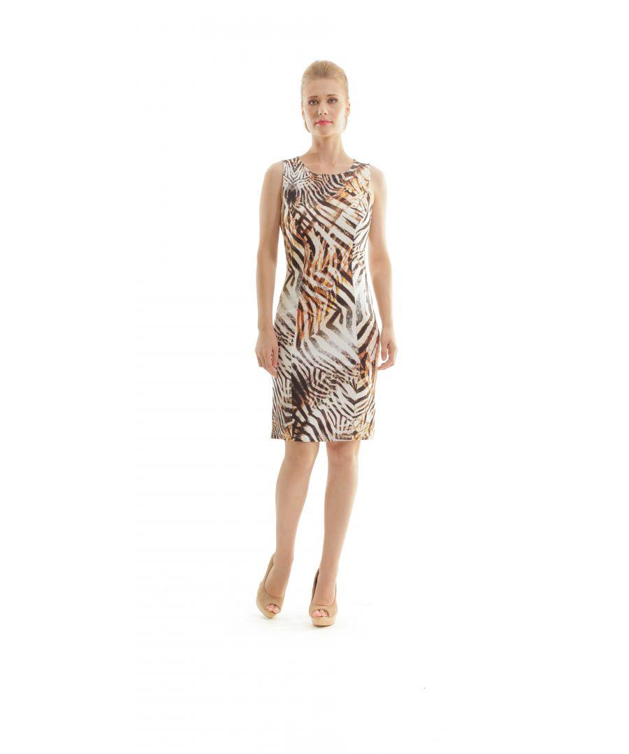 Image for Animal Print Sleeveless Dress