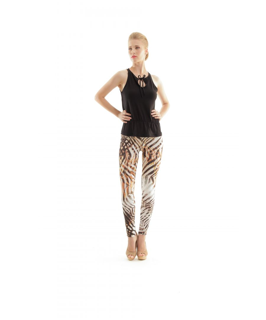 Image for Animal Print Silky Pants