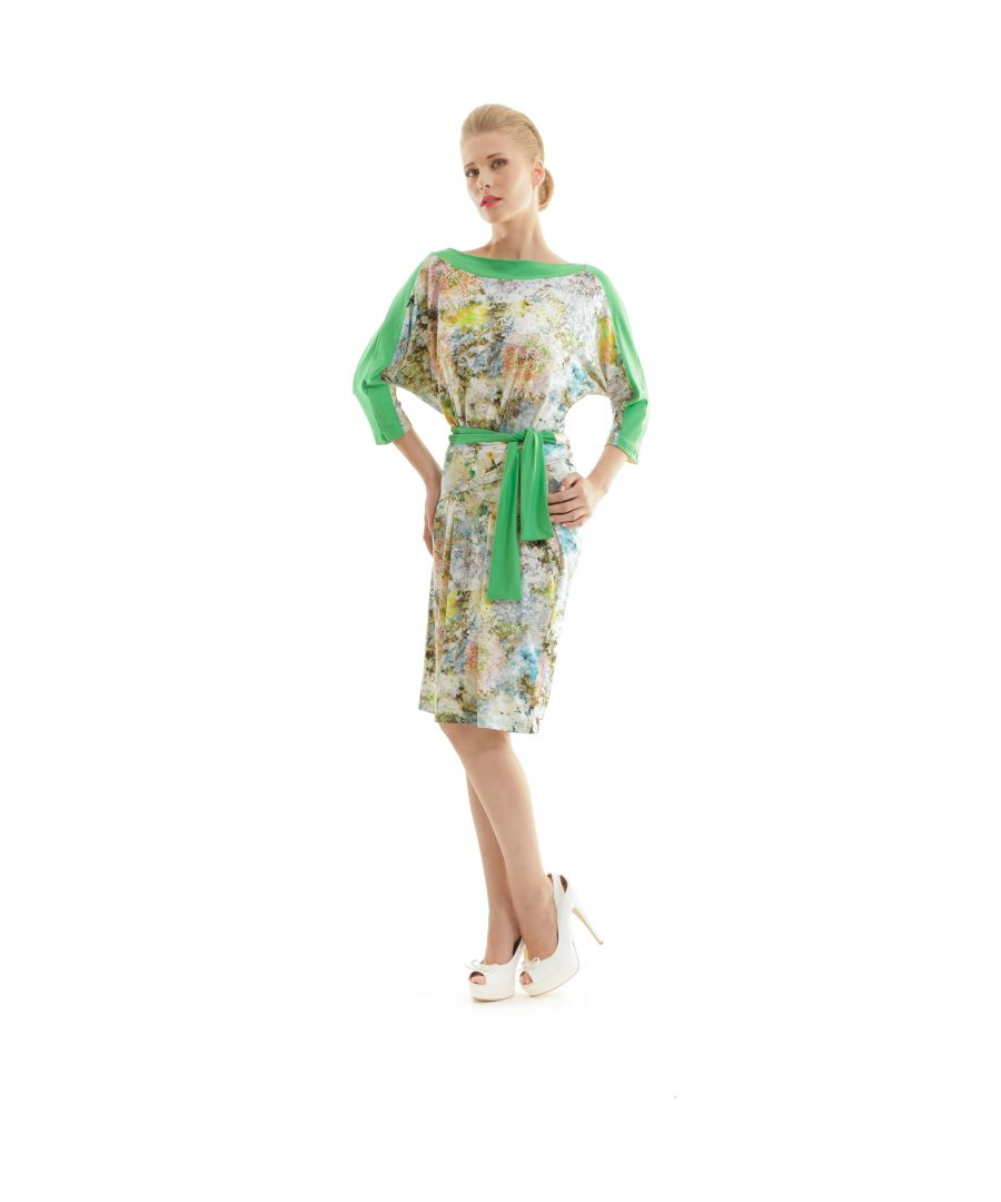 Image for Floral Print Tie Dress