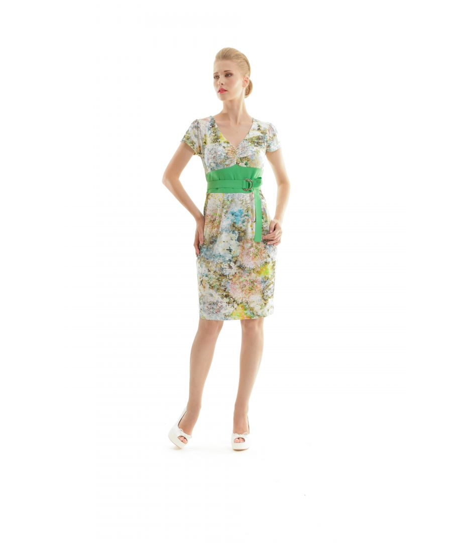 Image for Cap Sleeved Floral Print Dress