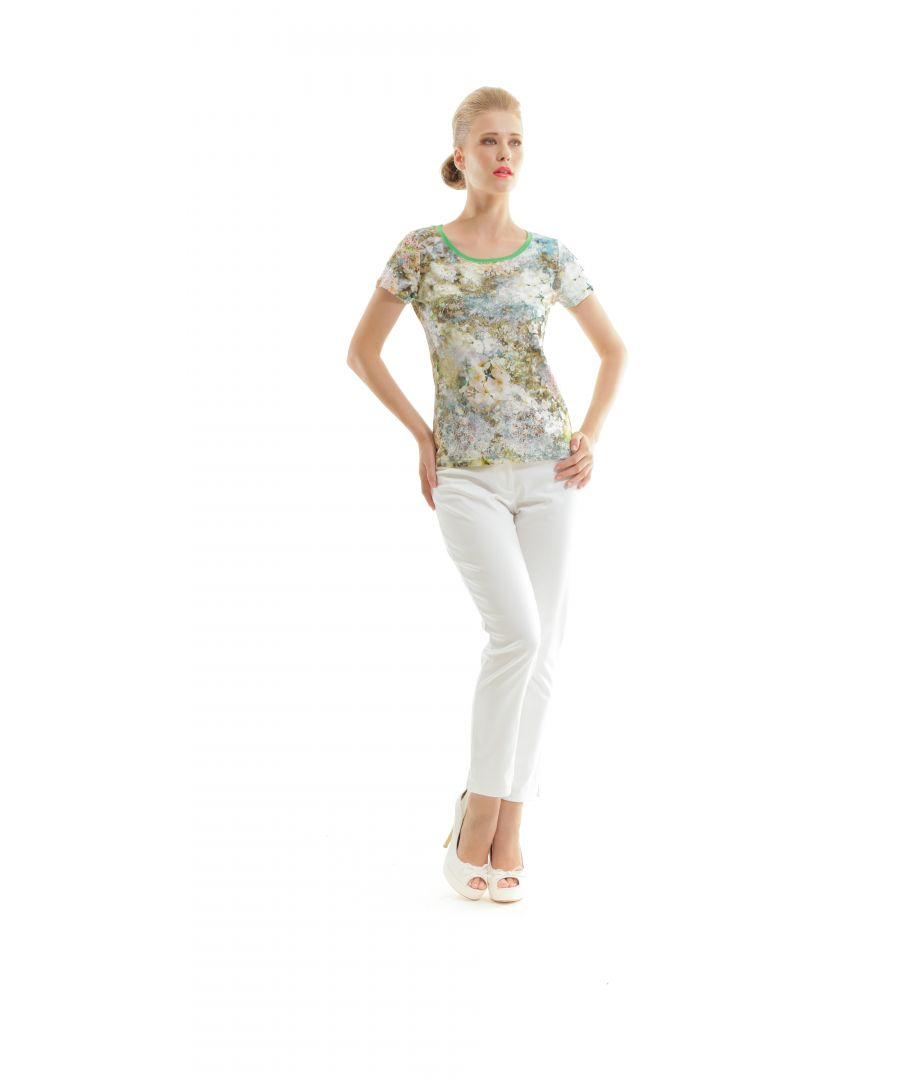 Image for Floral Short Sleeve Top