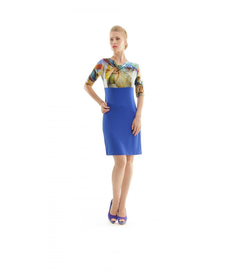 Image for Cowl Neck Print Detail Dress