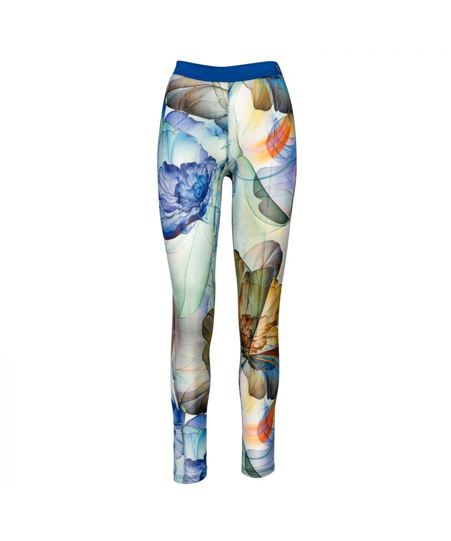 Image for Silky Floral Print Leggings