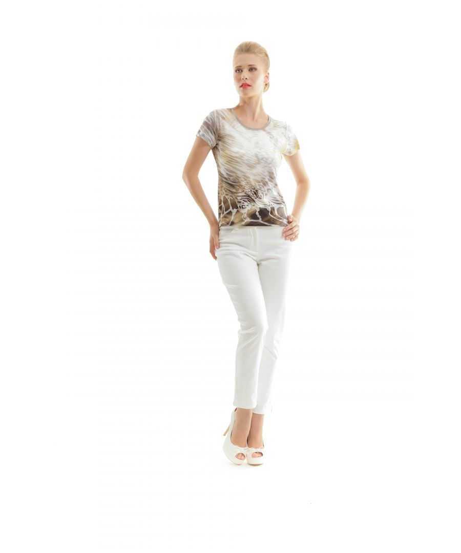 Image for Short Sleeve Animal Print Top