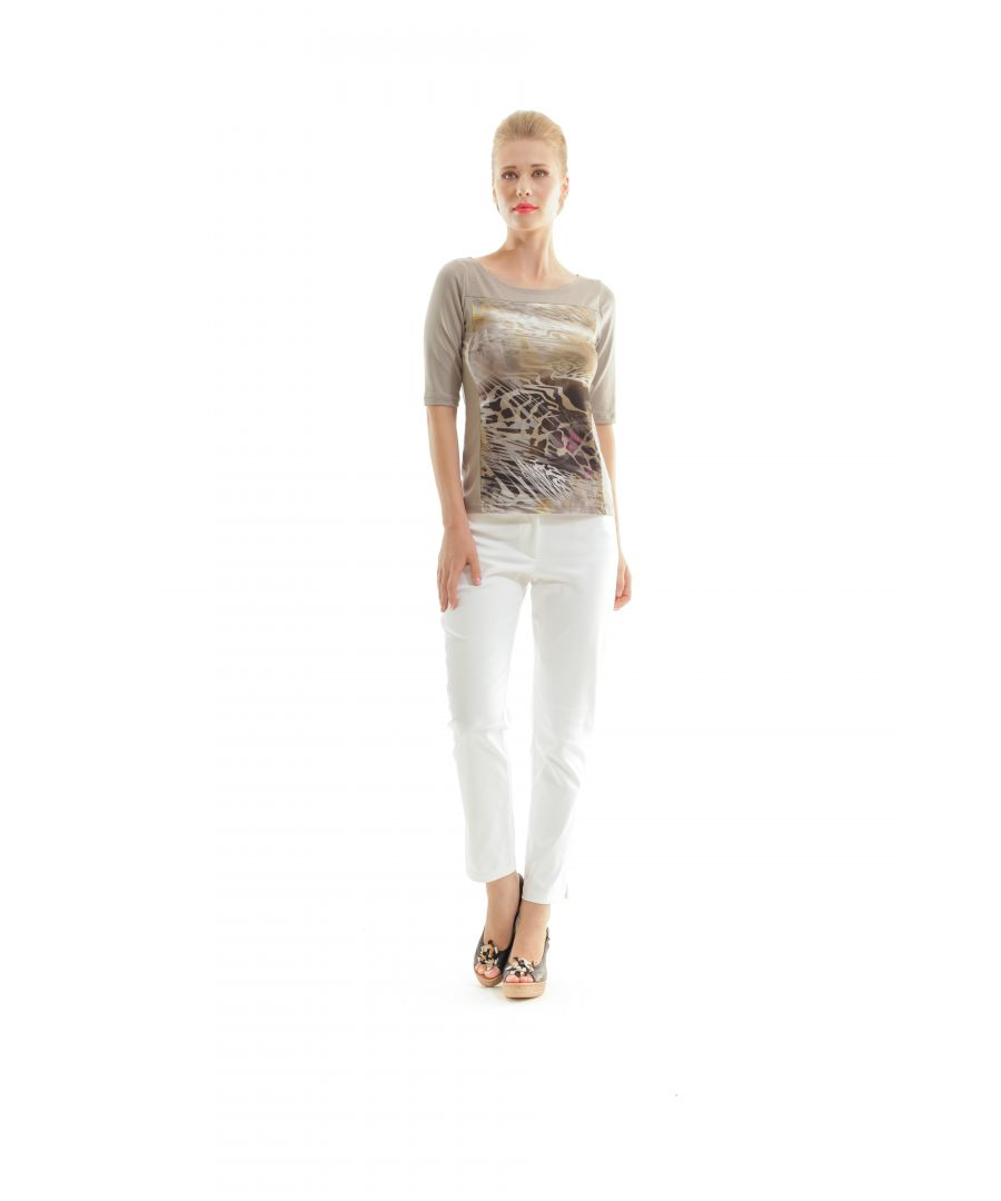 Image for Animal Print & Solid Colour Top