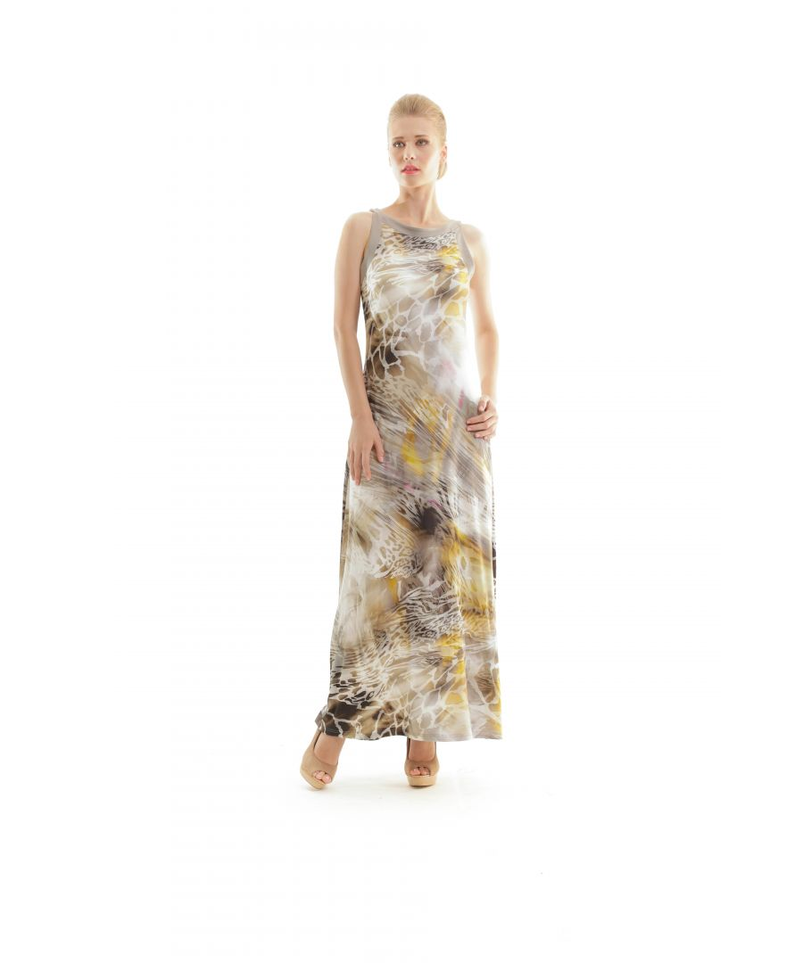 Image for Abstract Animal Print Maxi Dress