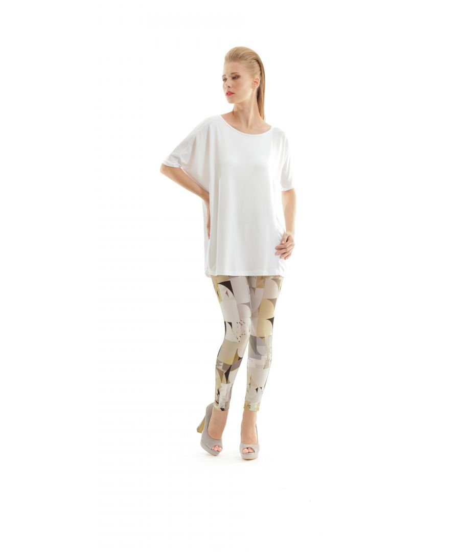 Image for Silky Geometric Print Pants