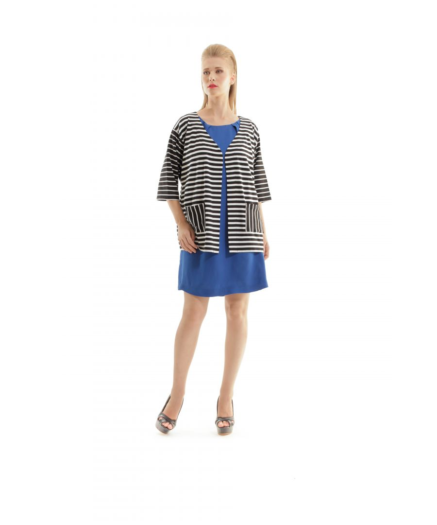Image for Stripe Pocket Detail Cardigan