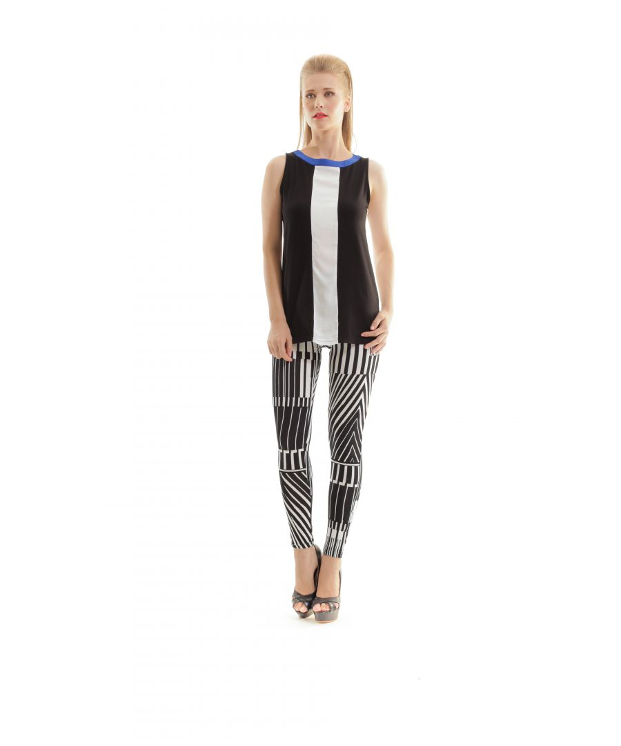 Image for Silky Black and White Print Pants