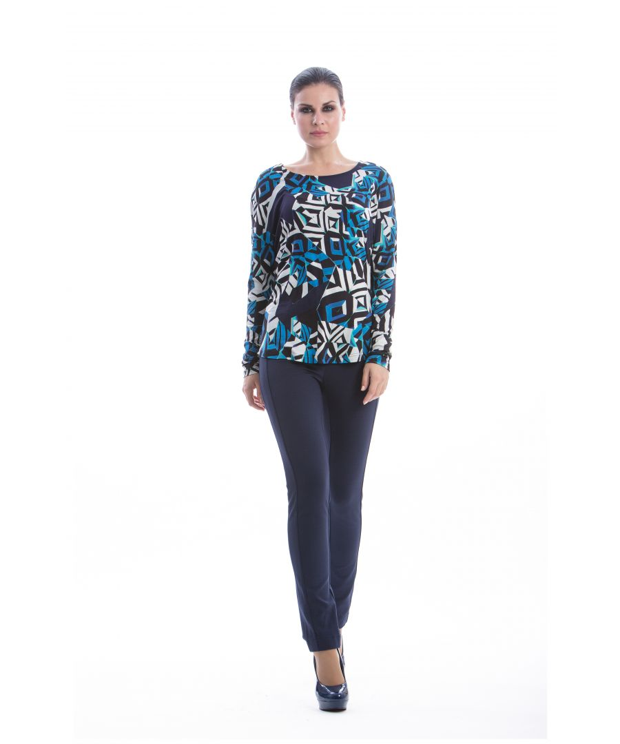 Image for Long Sleeve Print Top
