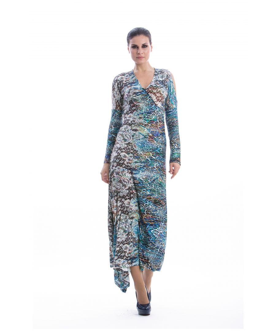 Image for Faux Wrap Maxi Dress