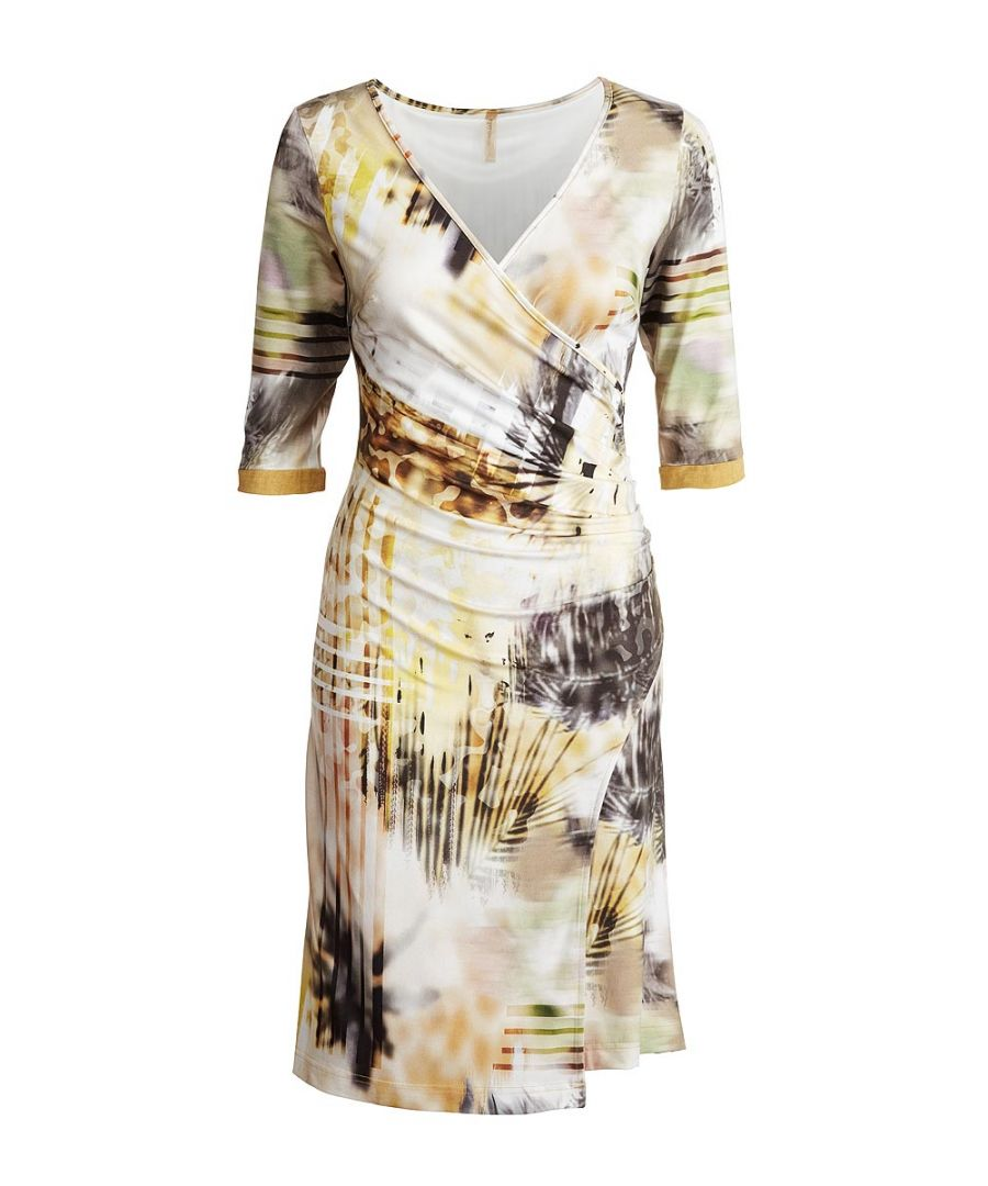 Image for Faux Crossover Print Dress