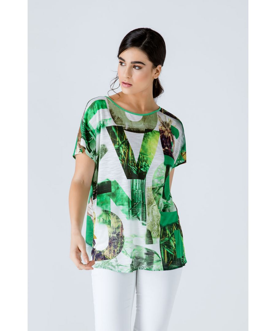Image for Print Flama Top with Tie Detail