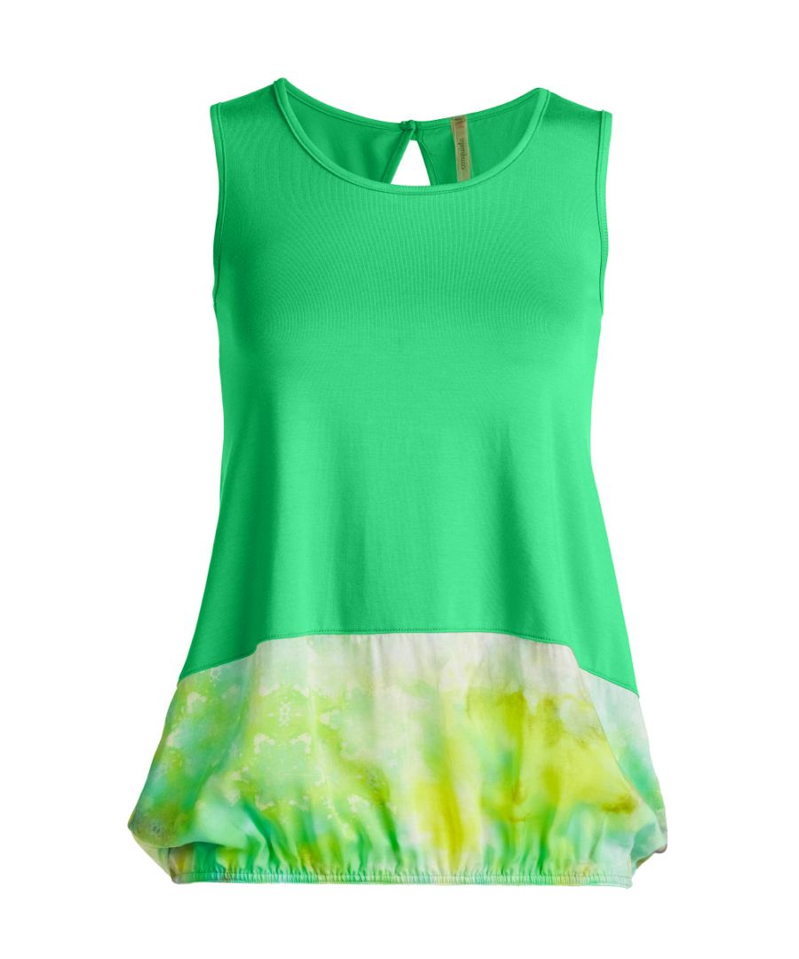 Image for Sleeveless Print Detail Top