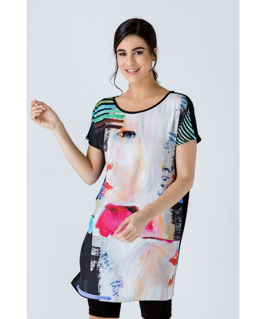 Image for Sleeveless Loose Fitting Print Dress