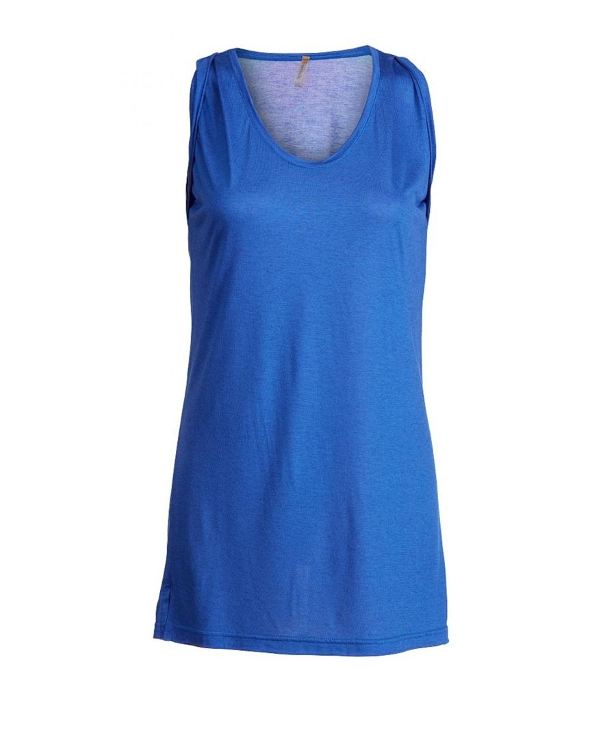 Image for Sleeveless Tunic with Pleat Detail