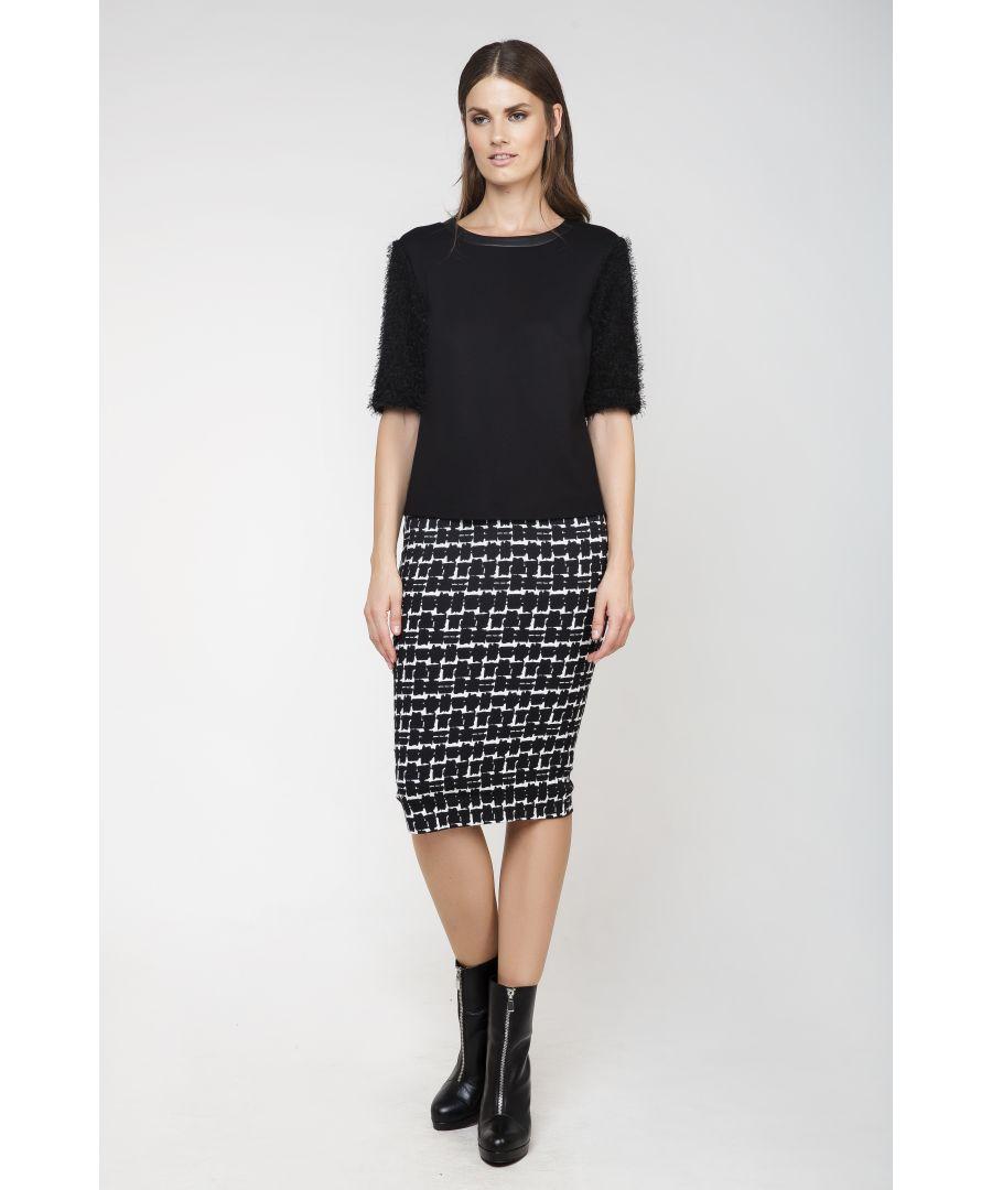 Image for High-Waisted Midi Pencil Skirt