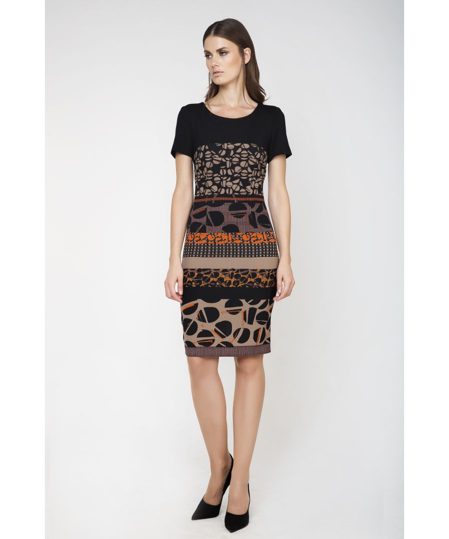 Image for Short Sleeve Print Dress