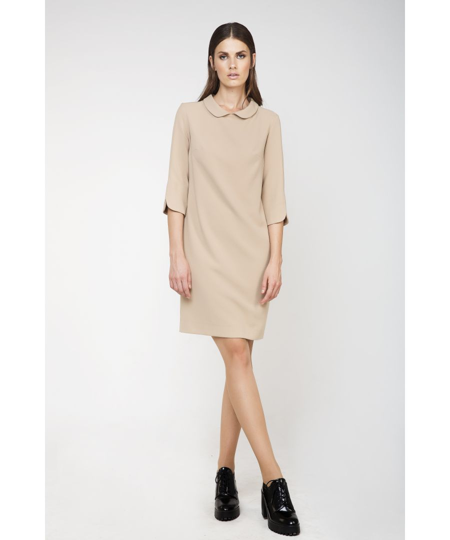 Image for Straight Dress with Rounded Collar