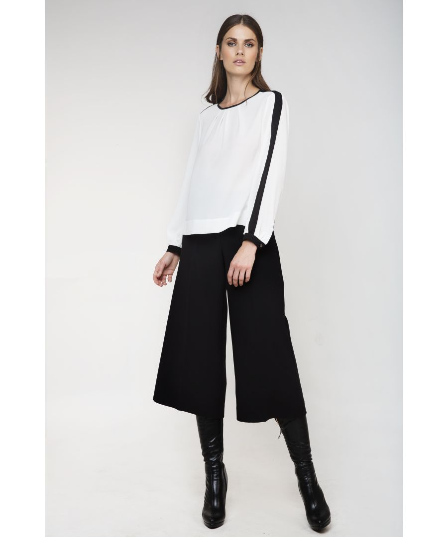 Image for High-Waisted Wide Leg Trousers