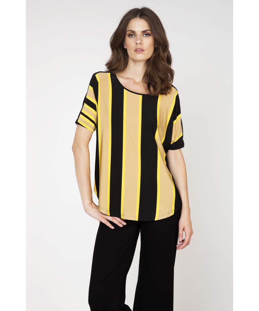 Image for Sheer Detail Stripe Top