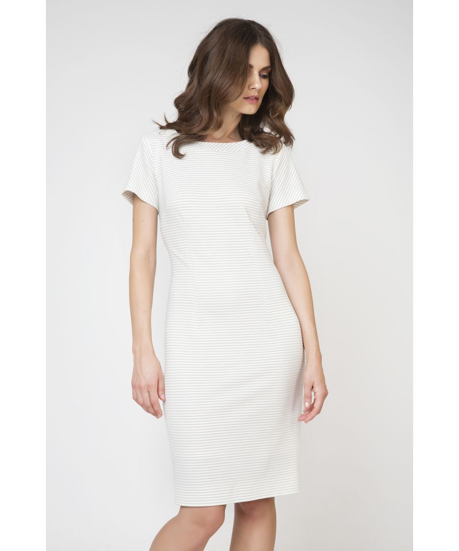 Image for Short Sleeve Fitted Dress