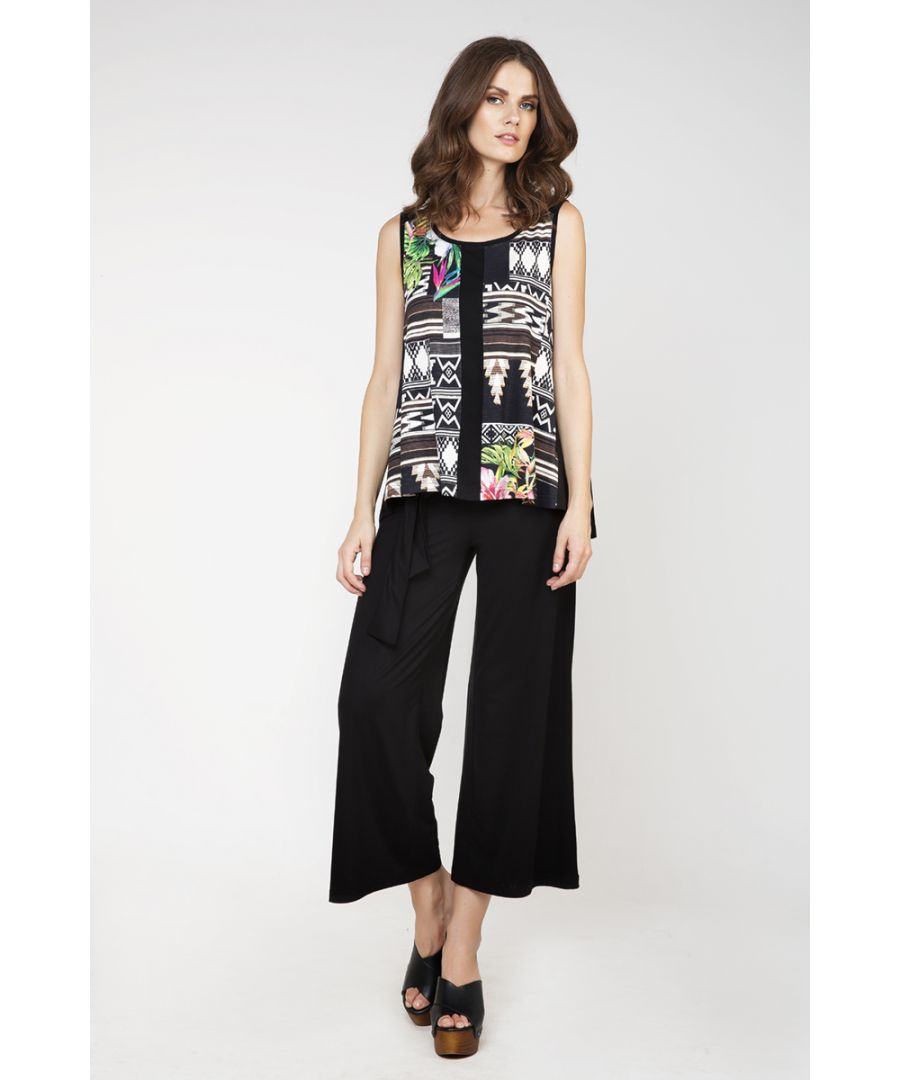 Image for Sleeveless Jungle Print Top