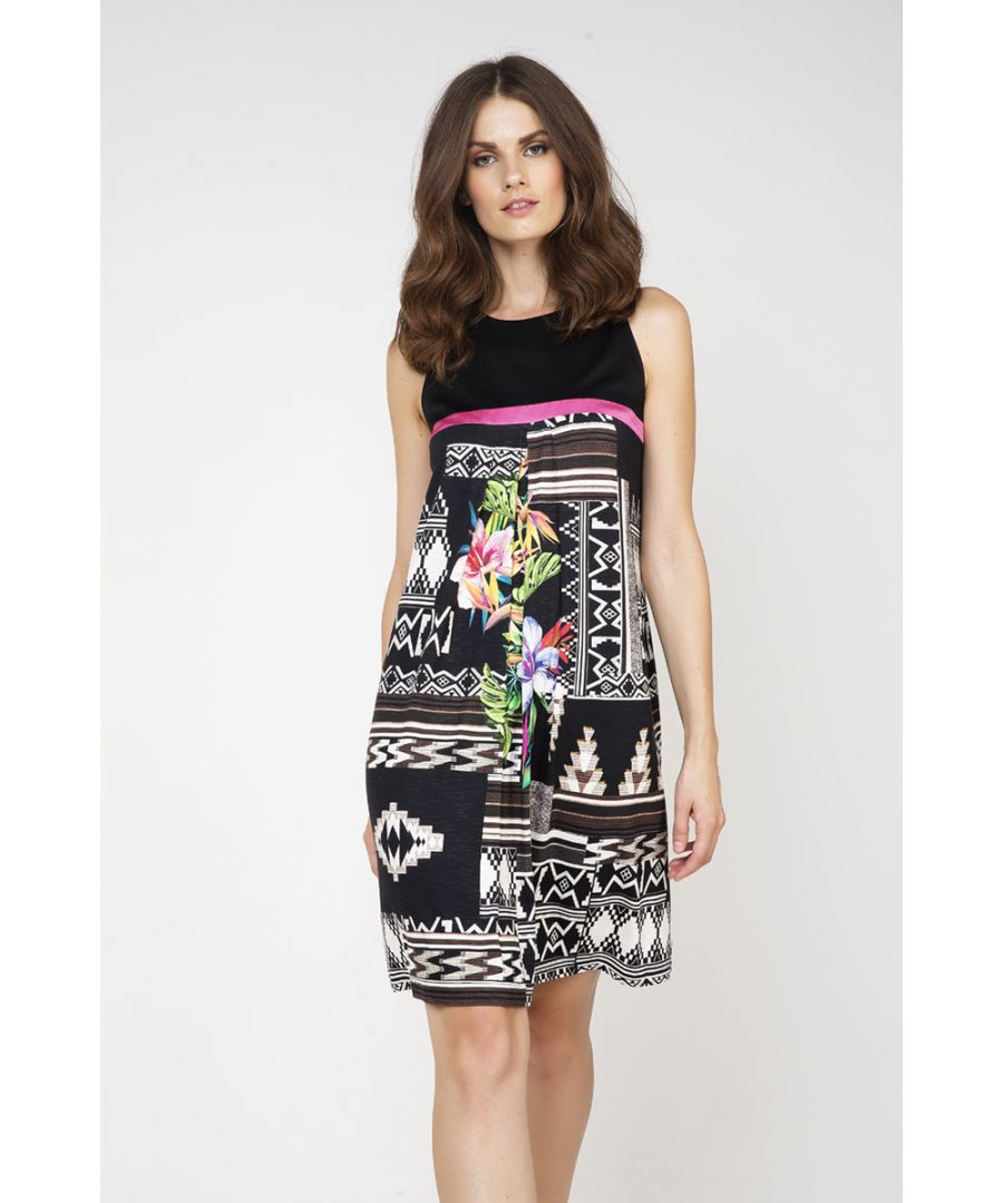 Image for Sleeveless Jungle Print Dress
