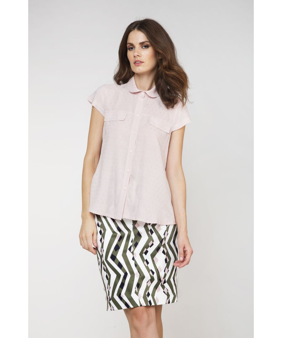 Image for Short Sleeve Poplin Blouse