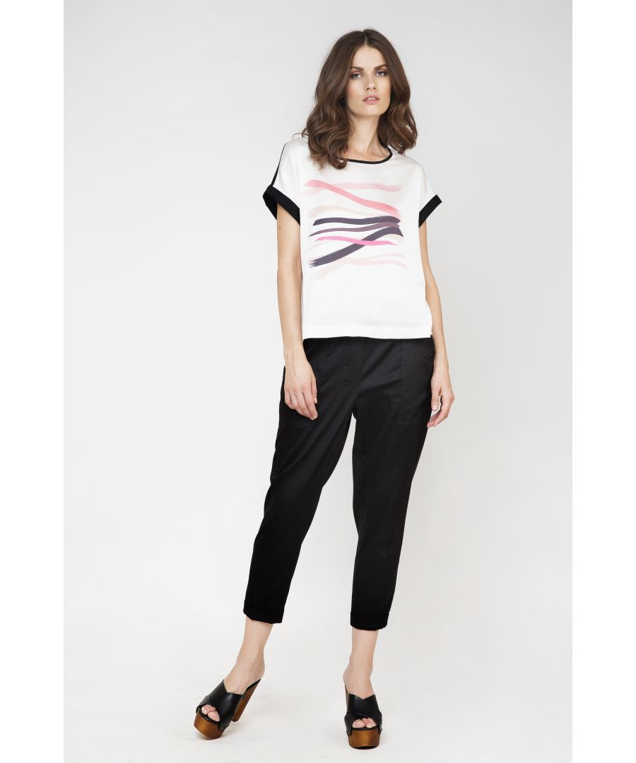 Image for Cap Sleeve Print Top