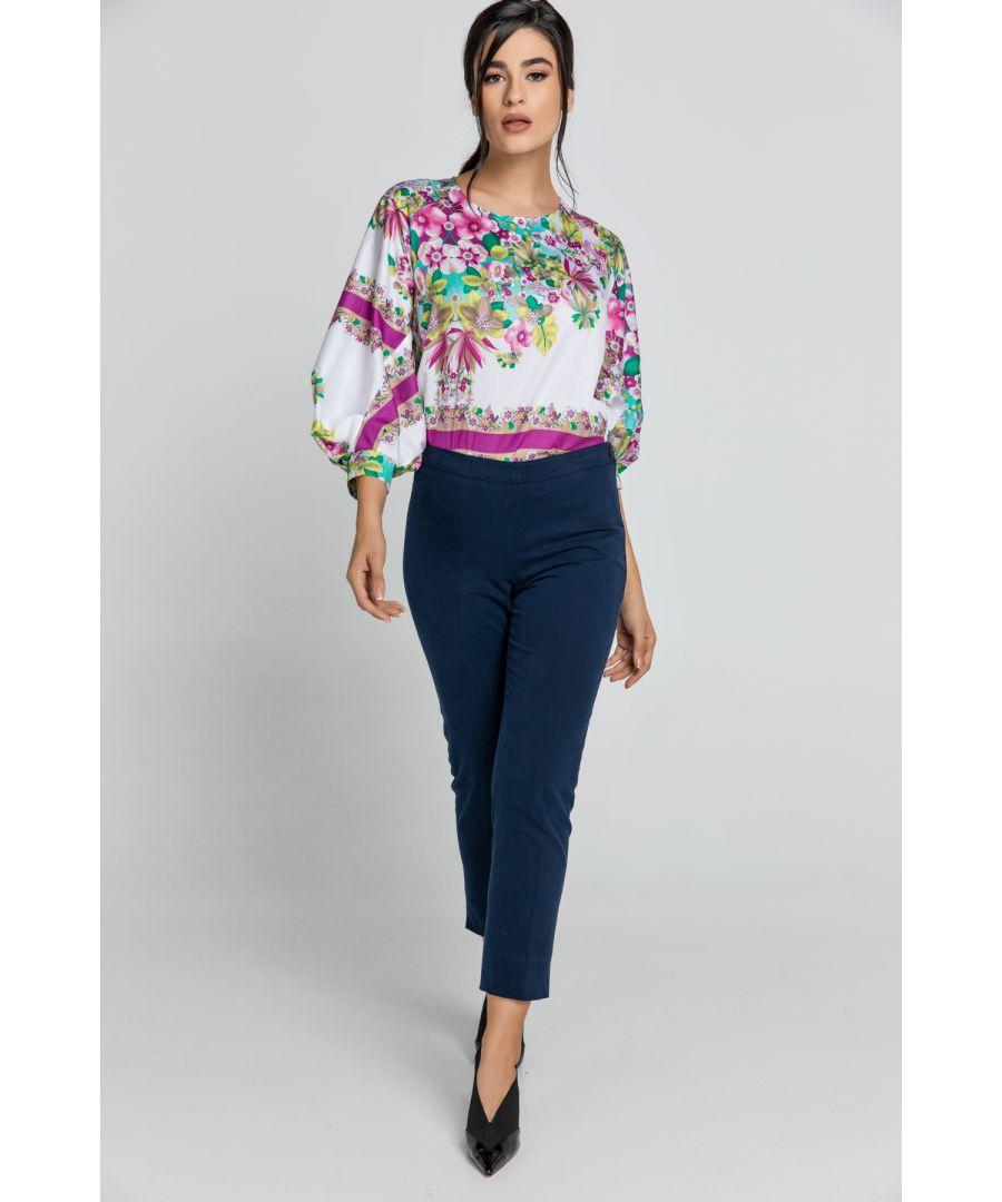 Image for Slim Fit Blue Pants Conquista Fashion