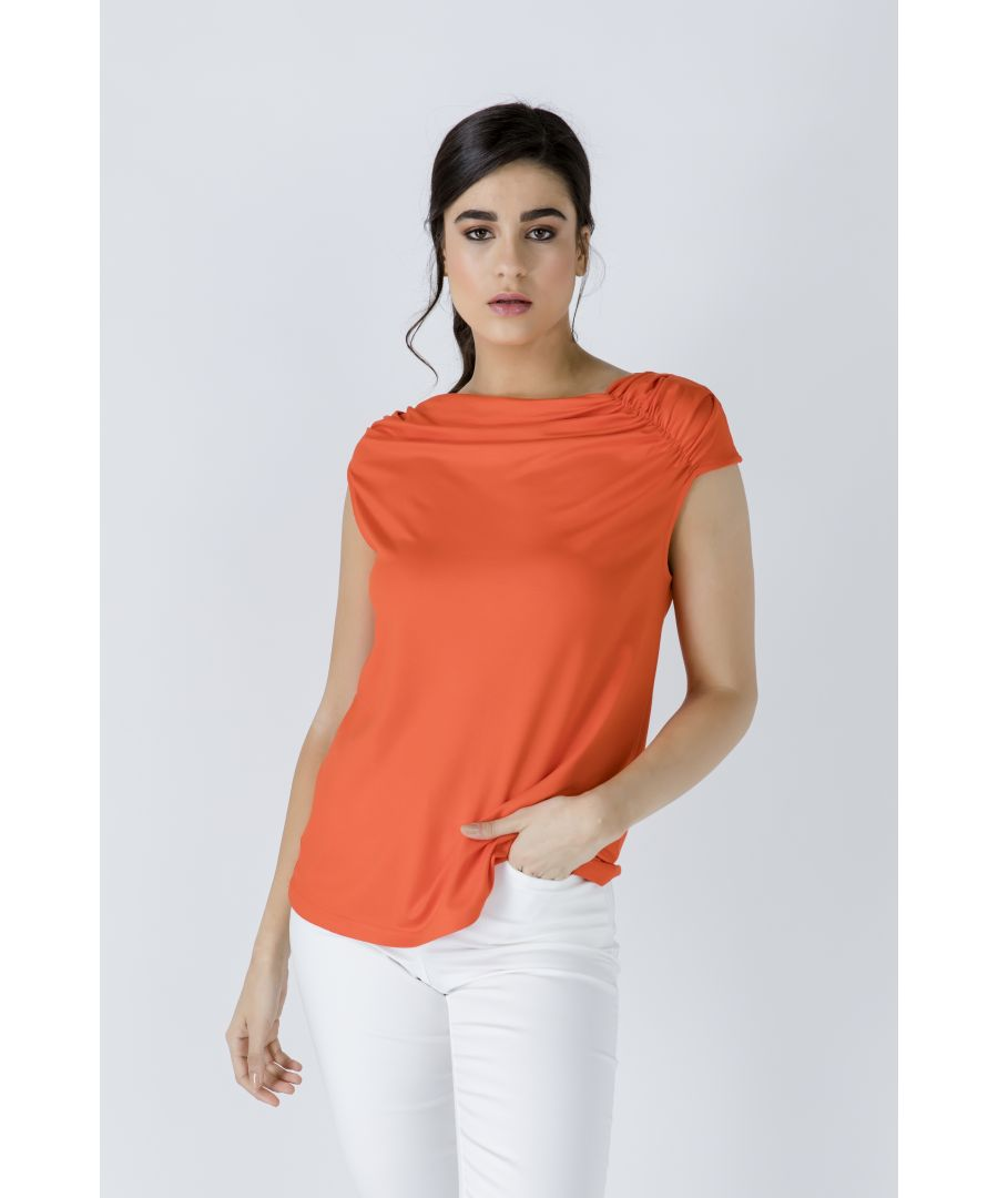 Image for Orange Asymmetric Top