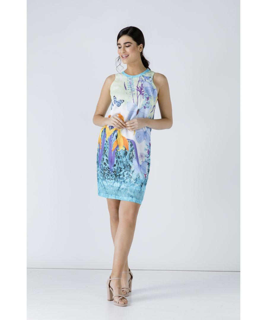 Image for Butterfly Print Sleeveless Dress