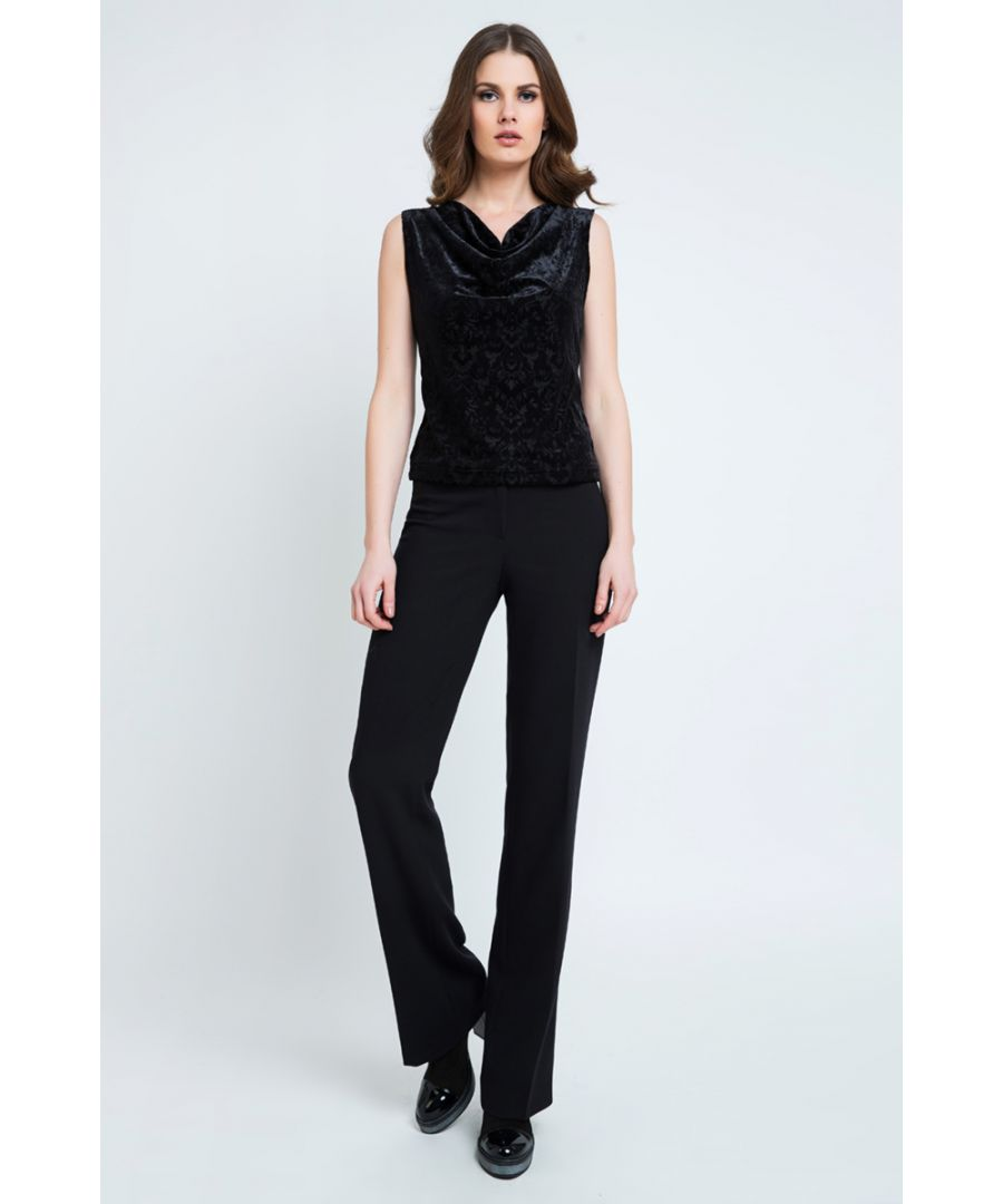 Image for Classic Straight Trousers Black
