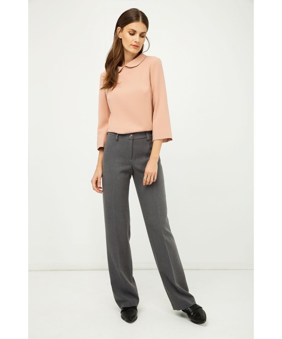Image for Classic Straight Trousers Grey