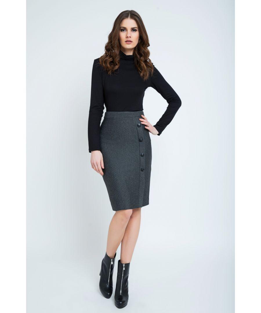 Image for Elegant Stripes Sheath Pencil Skirt