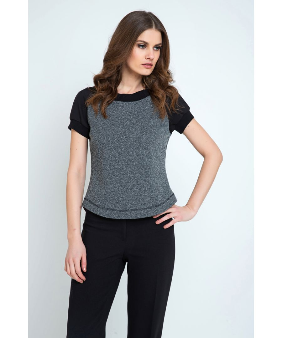 Image for Short Sleeve Top with Rounded Hem