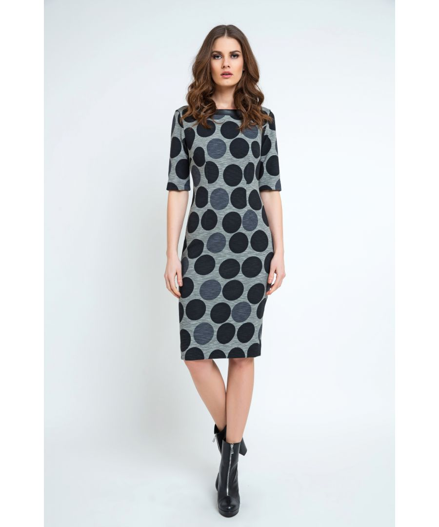 Image for Fitted Polka Dot Midi Dress