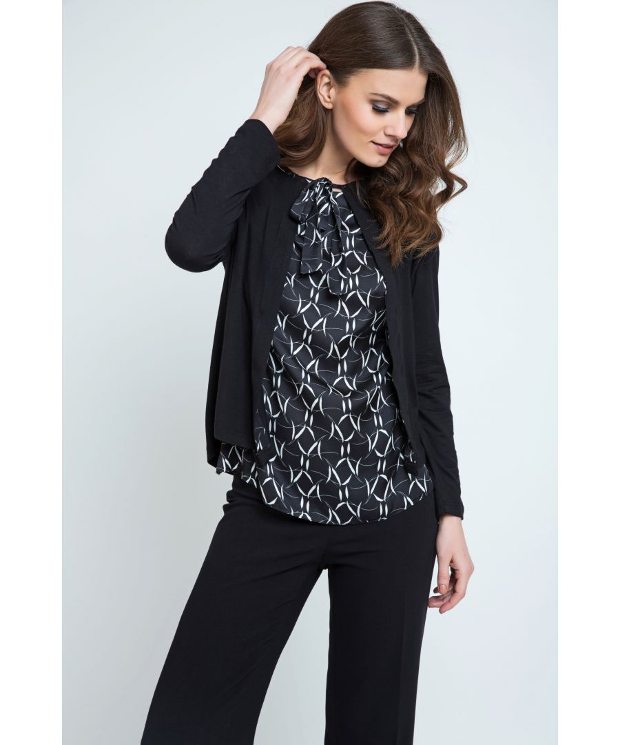 Image for Cardigan With Pattern DEtail