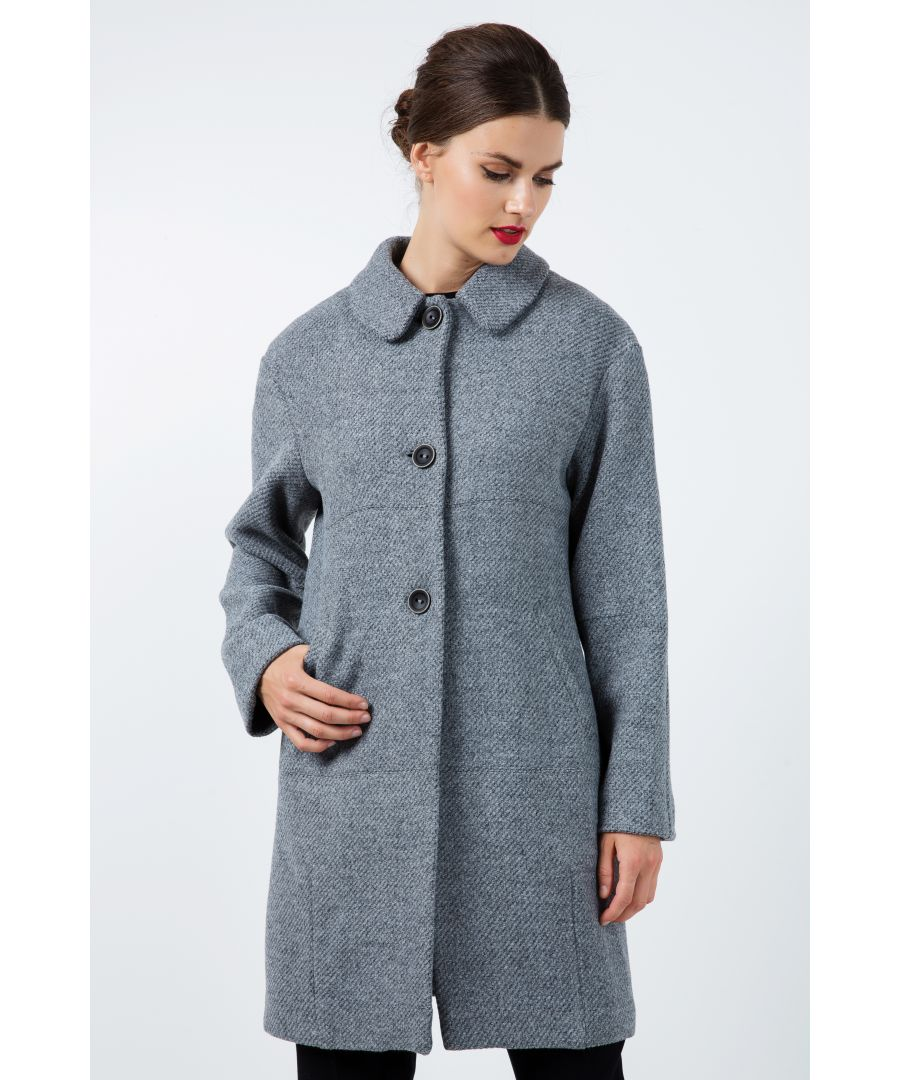 Image for Oversized Drop Shoulder Grey Coat