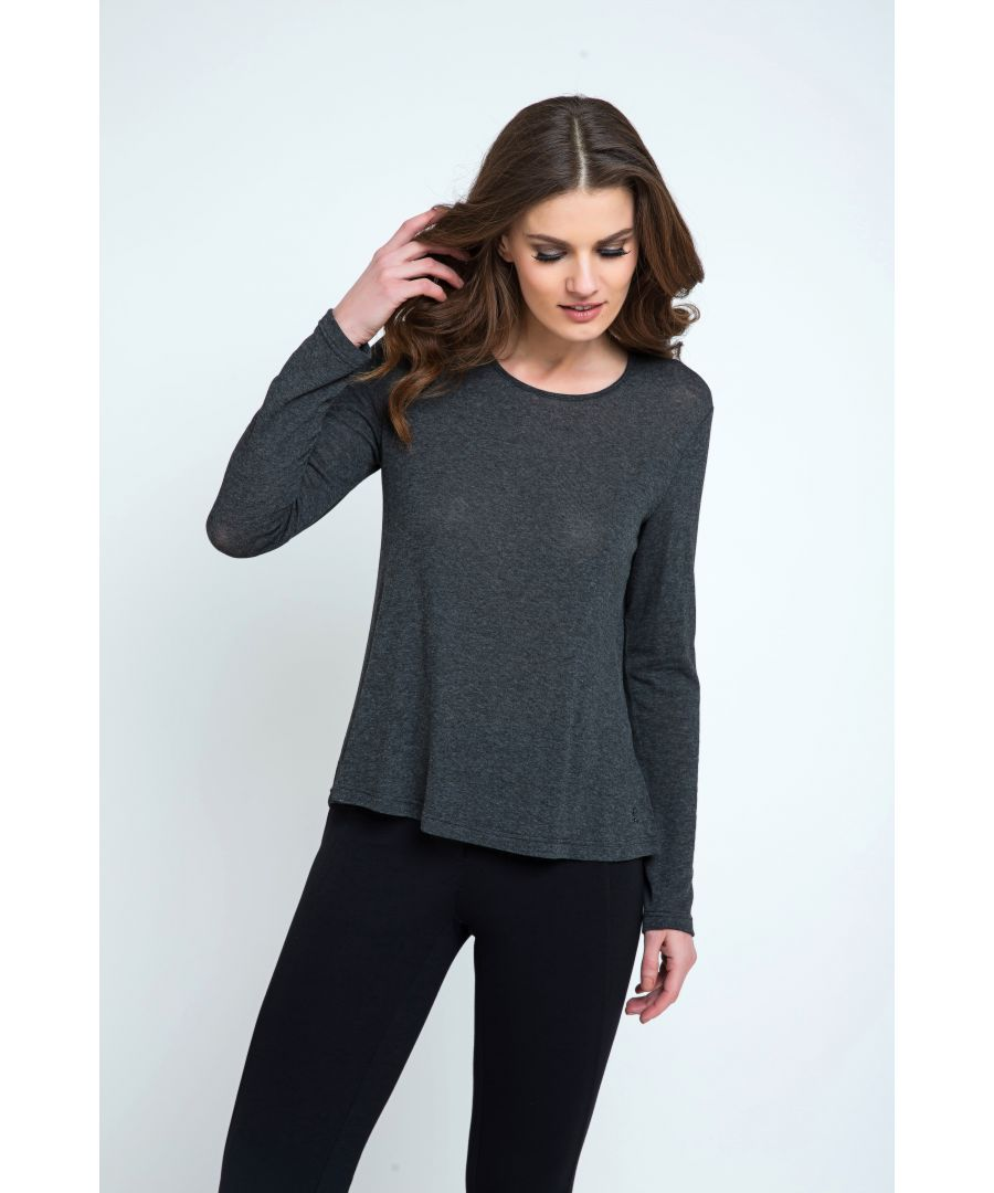 Image for Dark Grey Fine Knit Top\nFine Knit Top