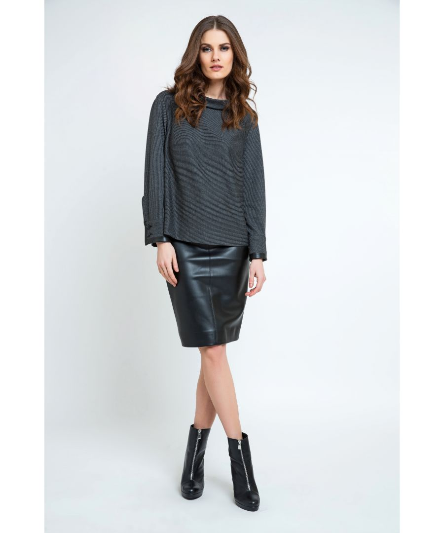 Image for Pleather Pencil Skirt